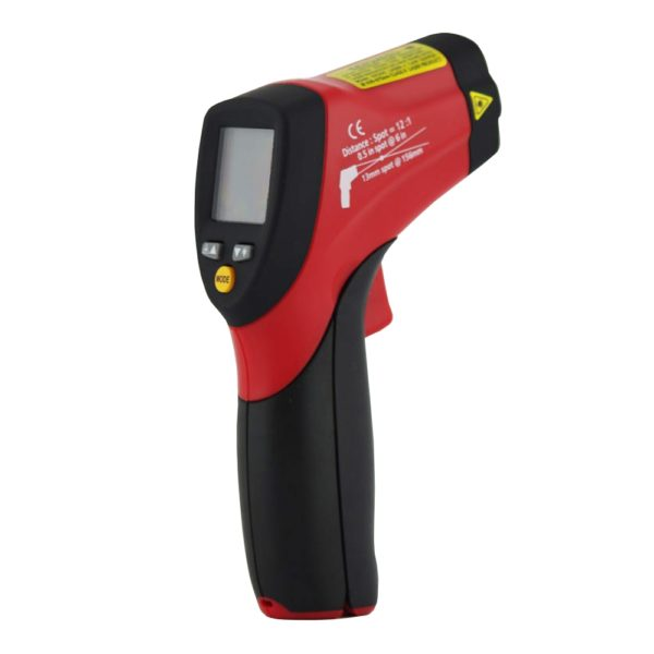 Dual Laser Infrared Thermometer with Backlit dual LCD Display